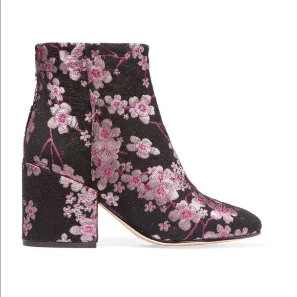 8b3db002cab9 NWOT Sam Edelman Taye Floral Brocade Ankle Booties.  M 5b314cdc9fe48630e9d1d3af